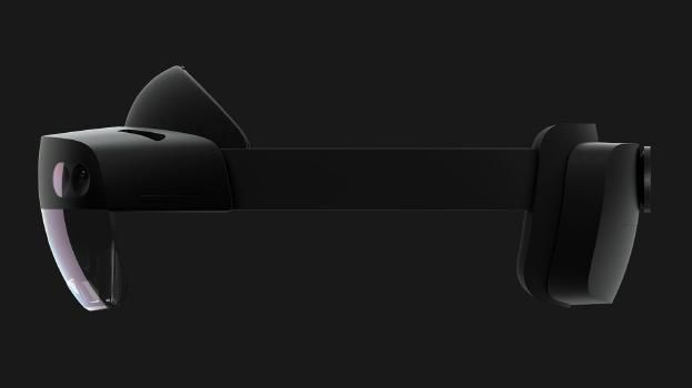 Microsoft HoloLens 2 device side view